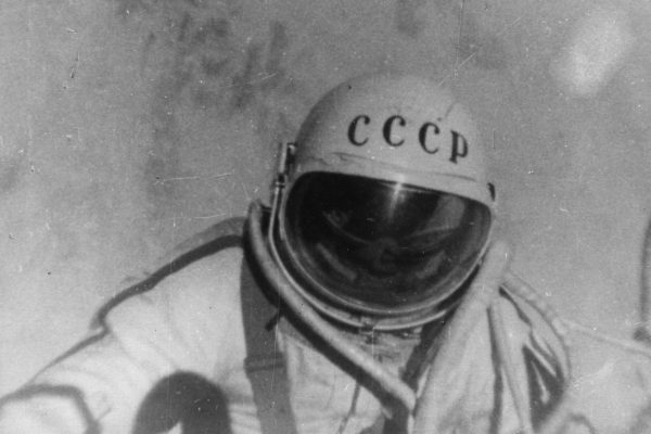 8th August 1965:  A still from a documentary film 'The Man Walking In Space', which followed Russian astronaut Alexei Arkhipovich Leonov on his famous orbit in the spacecraft Voskhod 2. On 18th March 1965, Leonov left the spacecraft for ten minutes to become the first man ever to walk in space.  (Photo by Central Press/Getty Images)