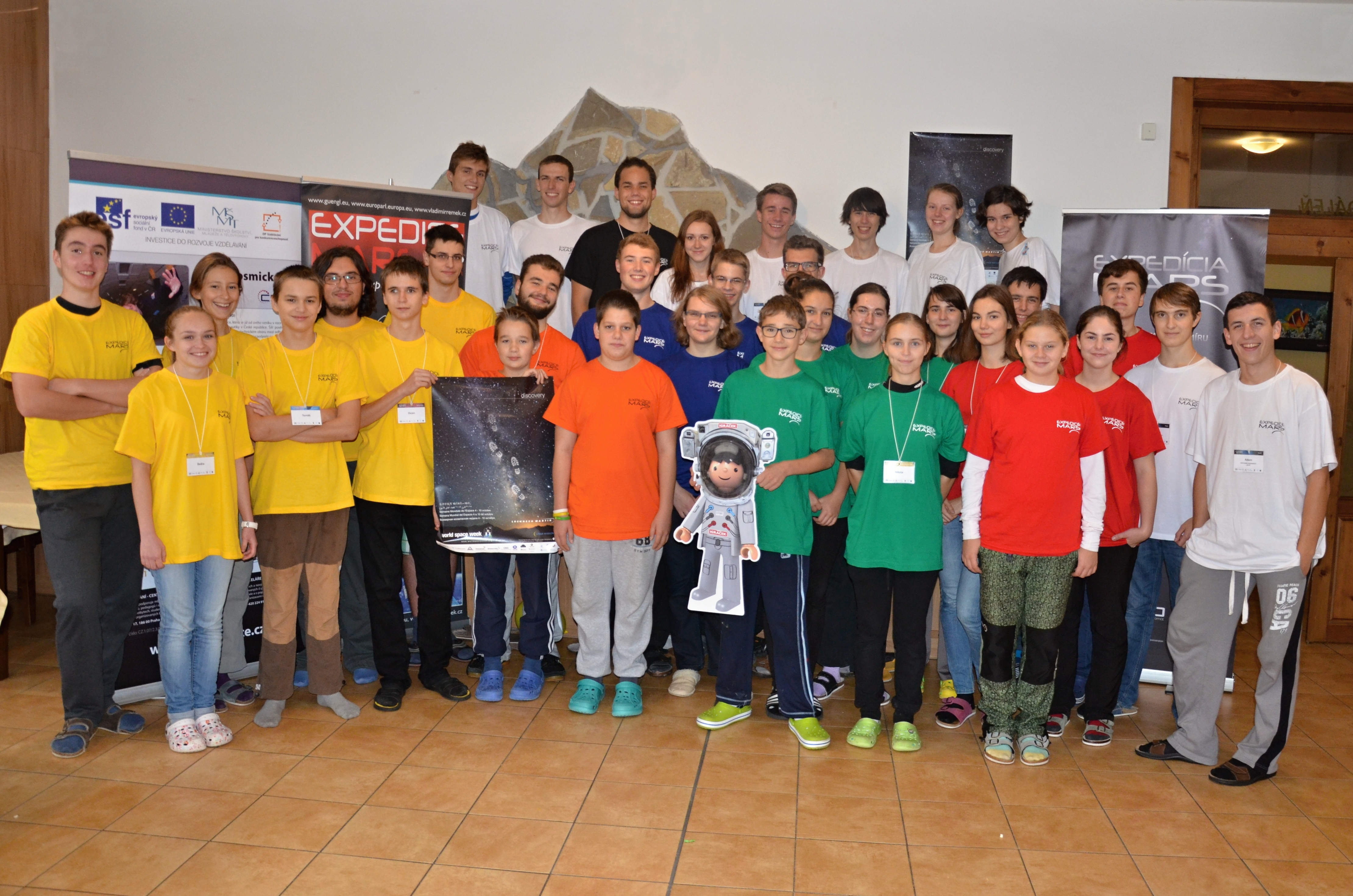 Obr.1: Semifinalisti súťaže Expedice Mars 2015