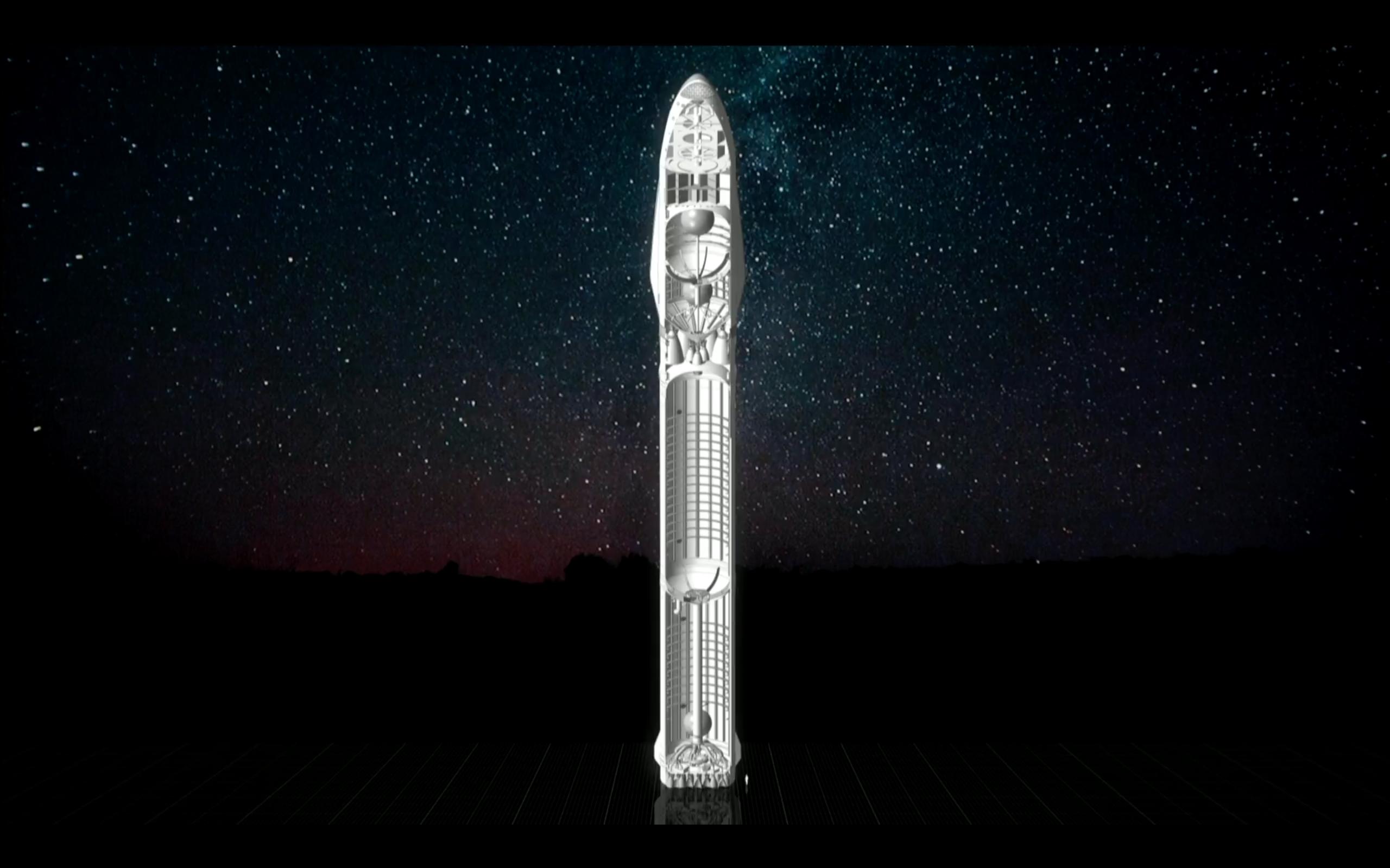 Obr.3: Rozmery novej rakety vporovnaní s človekom
