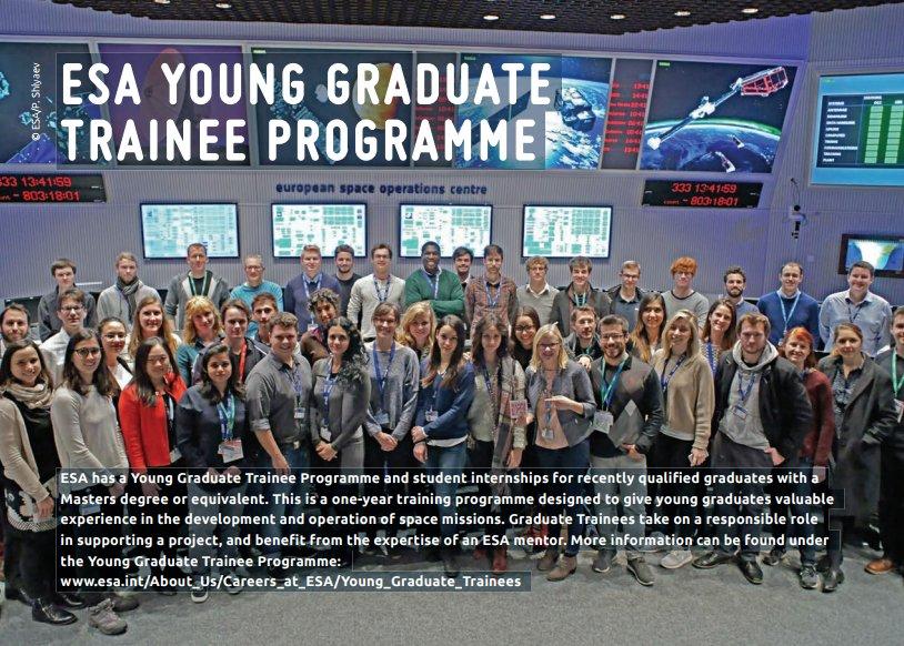 Ponuky na stáž v ESA v rámci programu Young Graduate Trainee