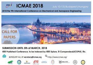 Pozvánka na konferenciu ICMAE 2018