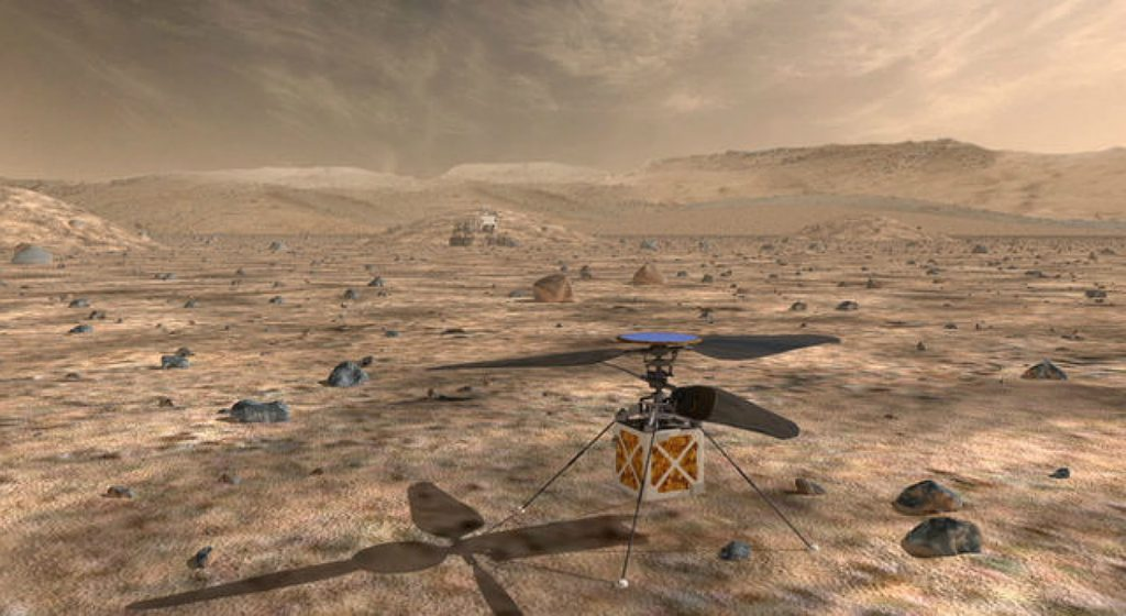 Helikoptéry už aj na Marse