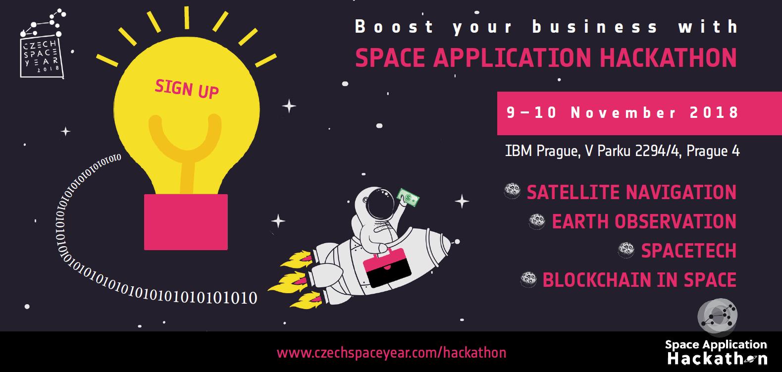 Space Application Hackathon, 9.-10. november 2018, Praha