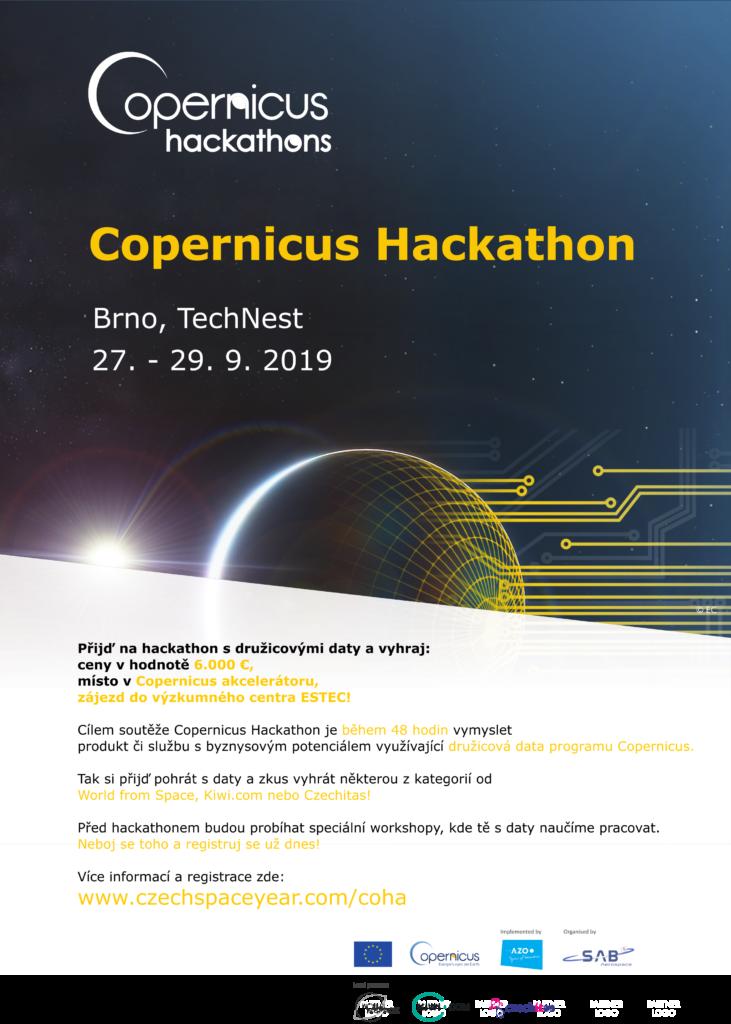 Pozvánka na Copernicus Hackaton v Brne
