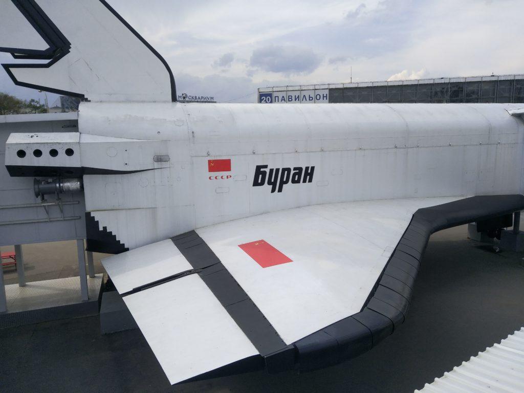 Raketoplán Buran pohľad z terasy múzea