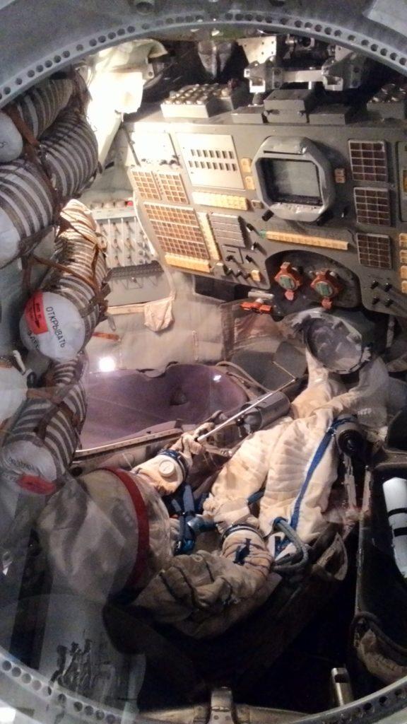 Interier vesmirnej lode Sojuz